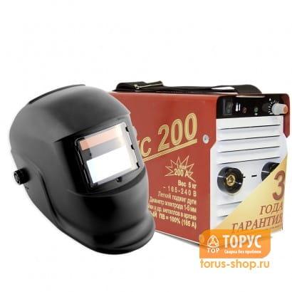 Сварочный инвертор ТОРУС-200 КЛАССИК + маска Хамелеон